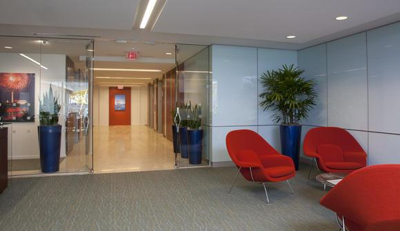 Lobby redchairs