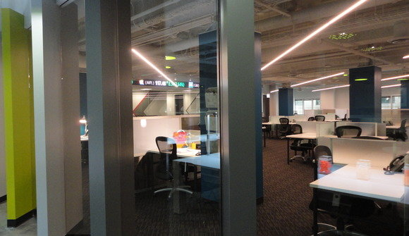 Co working glass wall