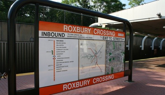 Roxb crossing mbta sign