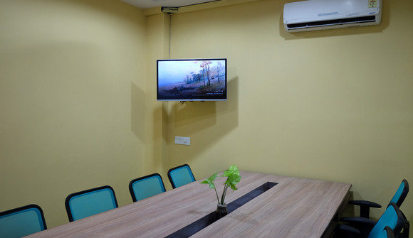 Conference room with wireless display
