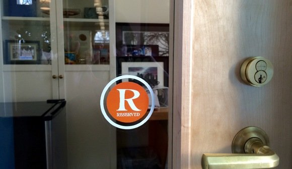 Reserved office door