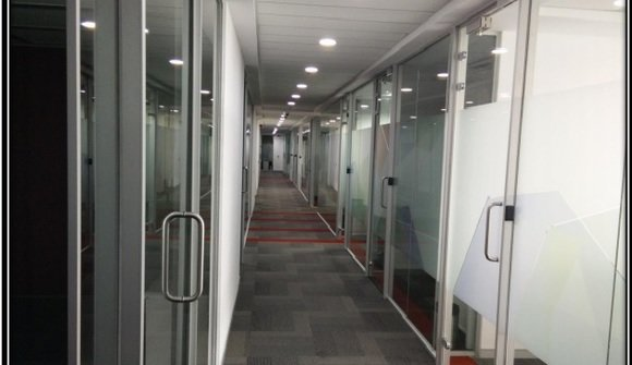 Business center corridor