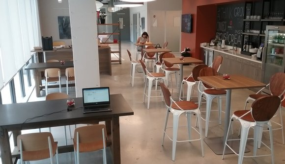 Coworking space lab cafe