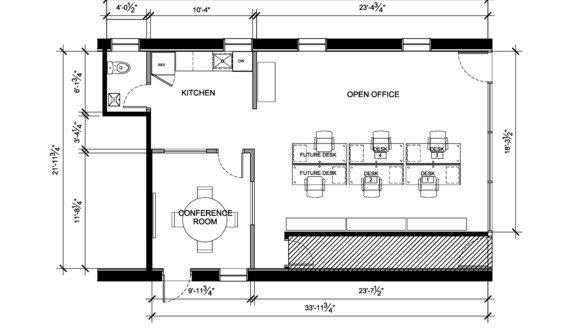 Storefront floor plan