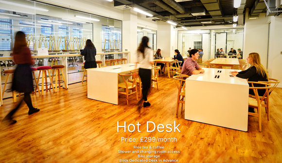 Hot desk poster sample
