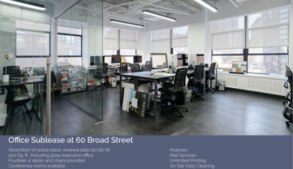 60 broad space listing flyer
