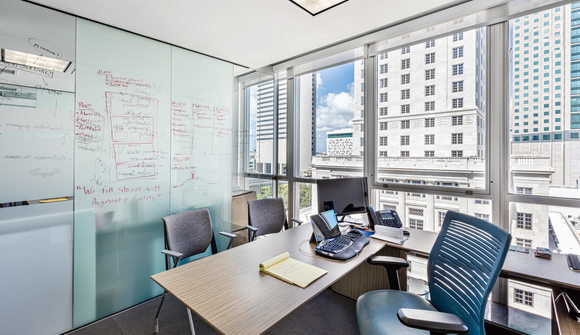 Starthub downtown miami view coworking private office suite writable wall mini mini