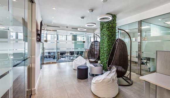 Starthub modern coworking shared office patio lounge mini mini