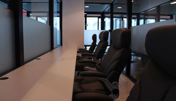 Cubico's modern aesthetic 6 person office space