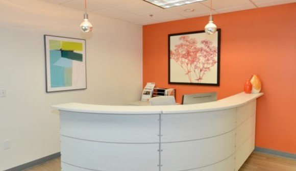Front desk reception in an office space in boulder 2