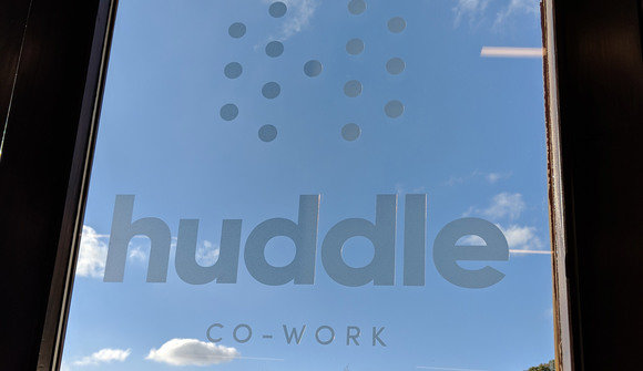 Huddle logo garden door