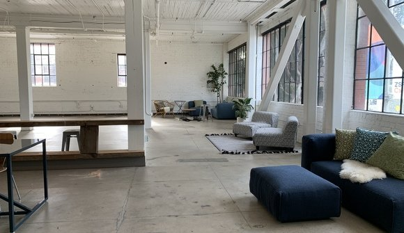 Sunny industrial creative space