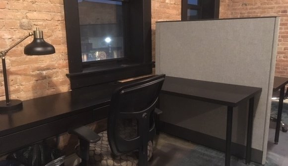 Upstairs cubicle