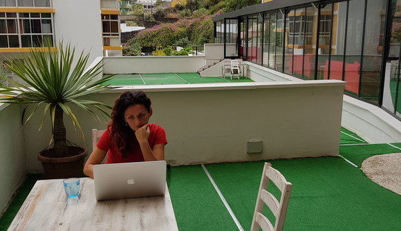Space coworking terrace middle